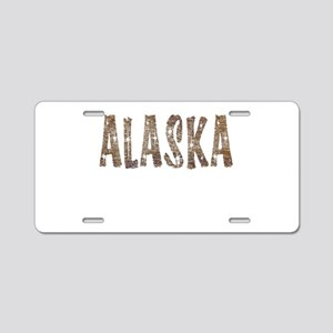 Alaska Coffee and Stars Aluminum License Plate