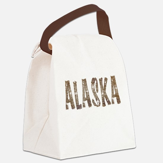 Alaska Coffee and Stars Canvas Lunch Bag