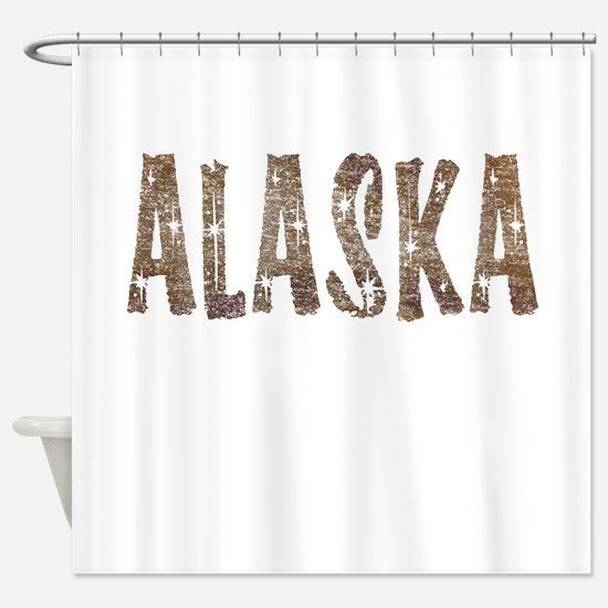 Alaska Coffee and Stars Shower Curtain