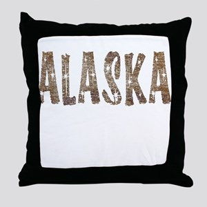 Alaska Coffee and Stars Throw Pillow
