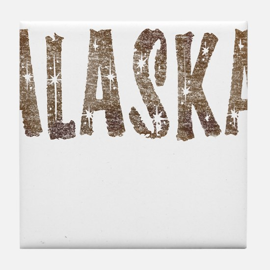Alaska Coffee and Stars Tile Coaster
