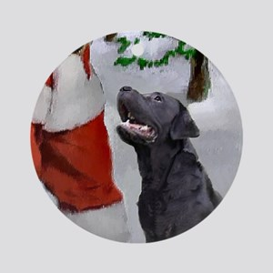 Labrador Retriever Christmas Round Ornament