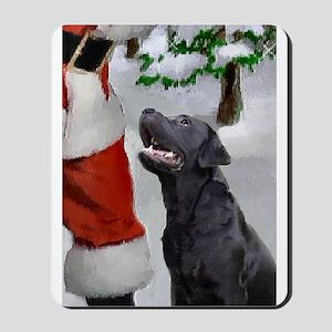 Labrador Retriever Christmas Mousepad