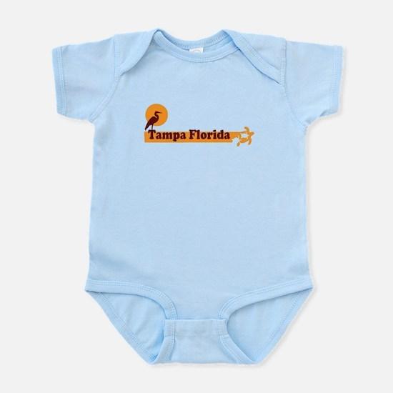 Tampa Florida - Beach Design. Infant Bodysuit