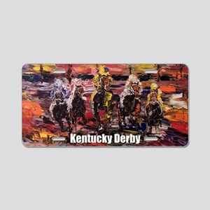 Horse Derby Aluminum License Plate