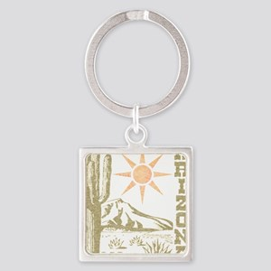 Vintage Arizona Cactus and Sun Keychains