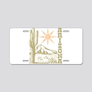 Vintage Arizona Cactus and Sun Aluminum License Pl