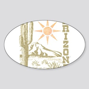 Vintage Arizona Cactus and Sun Sticker