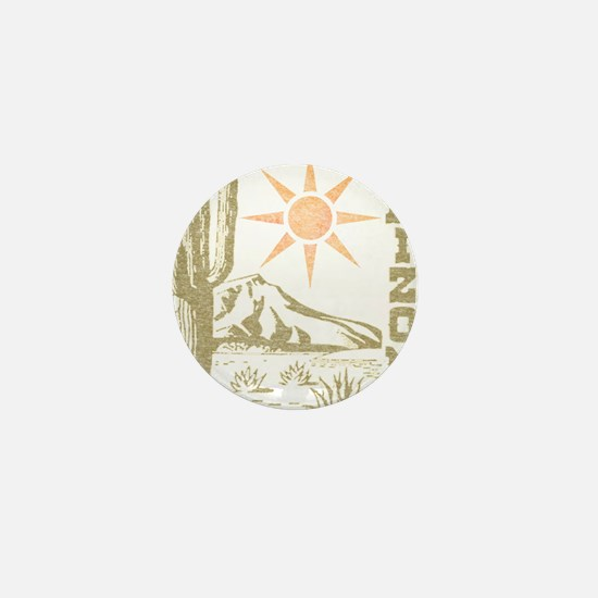 Vintage Arizona Cactus and Sun Mini Button