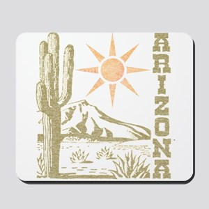 Vintage Arizona Cactus and Sun Mousepad