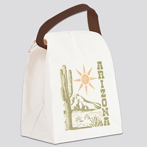 Vintage Arizona Cactus and Sun Canvas Lunch Bag