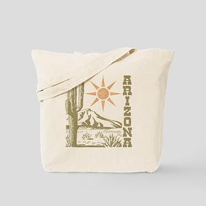 Vintage Arizona Cactus and Sun Tote Bag