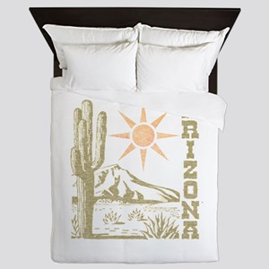 Vintage Arizona Cactus and Sun Queen Duvet