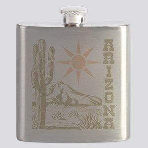 Vintage Arizona Cactus and Sun Flask