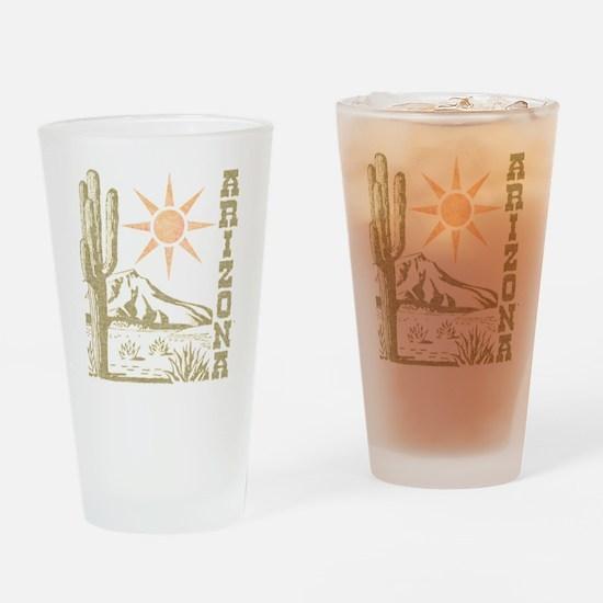 Vintage Arizona Cactus and Sun Drinking Glass
