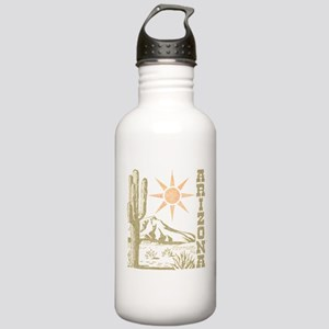 Vintage Arizona Cactus and Sun Water Bottle