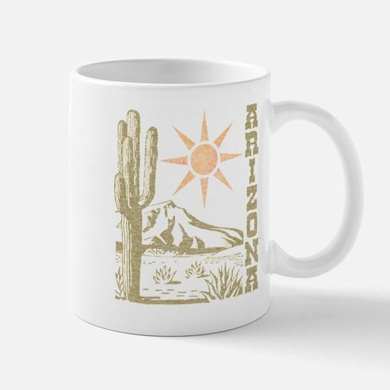 Vintage Arizona Cactus and Sun Mug