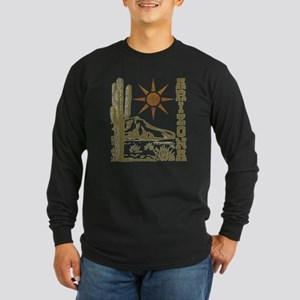 Vintage Arizona Cactus and Sun Long Sleeve T-Shirt