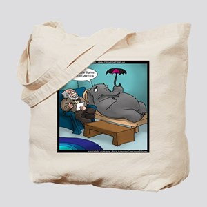 Rains Down In Africa Elephant Tote Bag