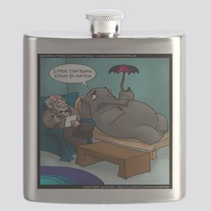 Rains Down In Africa Elephant Flask