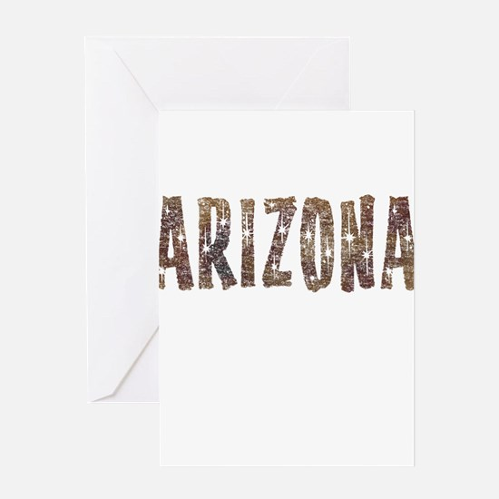 Arizona Coffee and Stars Greeting Card