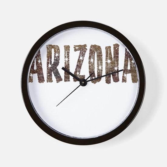 Arizona Coffee and Stars Wall Clock