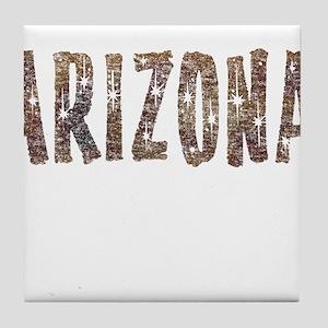 Arizona Coffee and Stars Tile Coaster