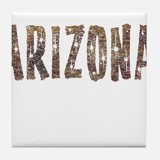 Arizona Coffee and Stars Tile Coaster