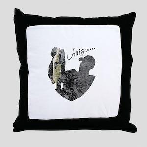 Arizona Fishing Throw Pillow