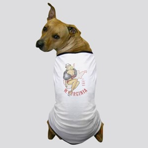 Faded West Virginia Pinup Dog T-Shirt