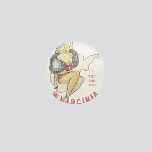 Faded West Virginia Pinup Mini Button