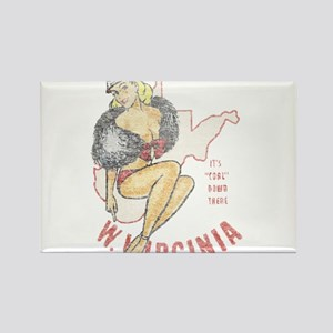 Faded West Virginia Pinup Rectangle Magnet