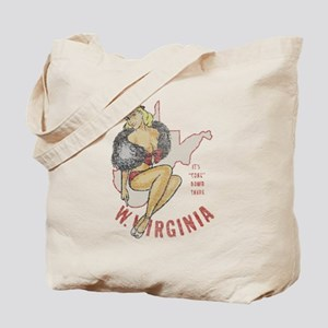 Faded West Virginia Pinup Tote Bag