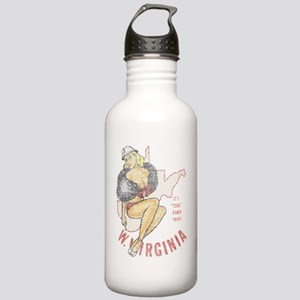 Faded West Virginia Pinup Stainless Water Bottle 1