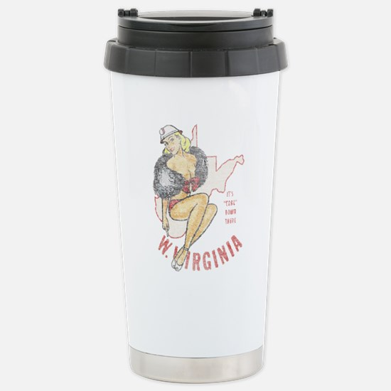 Faded West Virginia Pinup Stainless Steel Travel M