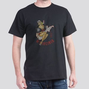 Faded West Virginia Pinup Dark T-Shirt