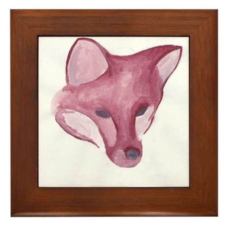 Foxy Head Framed Tile