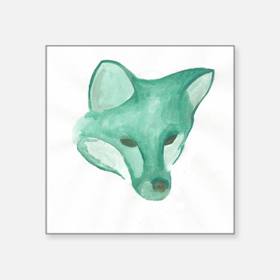 Foxy Head (teal) Sticker