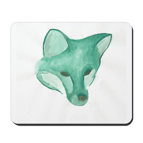 Foxy Head (teal) Mousepad