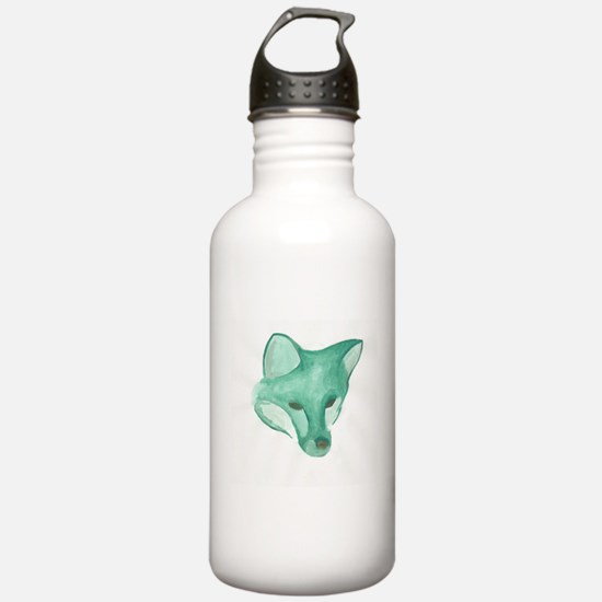Foxy Head (teal) Water Bottle