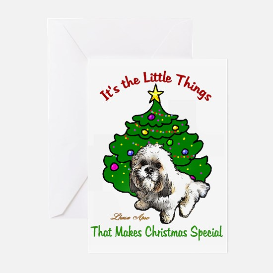 Lhasa Apso Christmas Greeting Cards (Pk of 10)