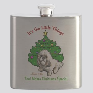Lhasa Apso Christmas Flask