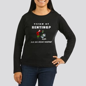 RENTING? Women's Long Sleeve Dark T-Shirt