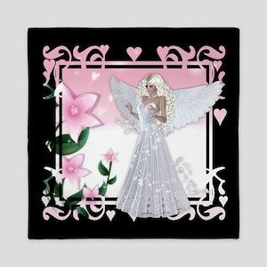Flower Angel Fantasy Artwork Queen Duvet
