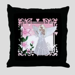 Flower Angel Fantasy Artwork Throw Pillow