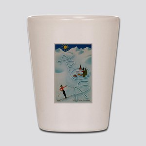 Vintage Arosa Switzerland Travel Shot Glass