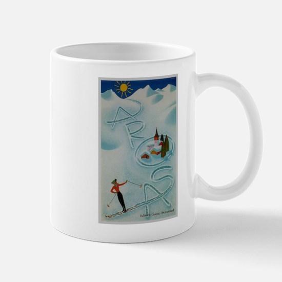 Vintage Arosa Switzerland Travel Mug