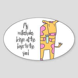 Milkshake Oval Sticker