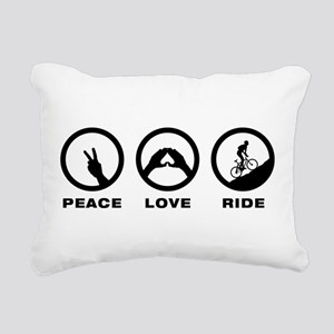 Mountain Biking Rectangular Canvas Pillow