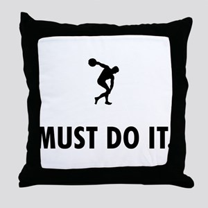Discus Throw Throw Pillow